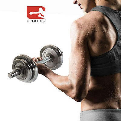 20kg Dumbbell Weights Set Biceps Workout Home Gym Training Fitness - Sporteq