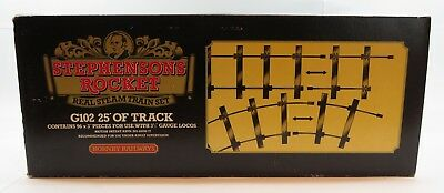 "Hornby G102 3 1/2 Inch Gauge 25' Of Track - Box Of 96 x 3"" Pieces"
