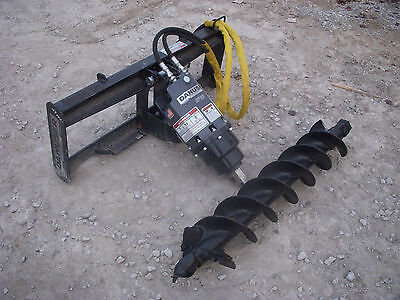 "Bobcat Skid Steer Attachment - Danuser EP 6 Hex Auger with 9"" Bit - Ship $199"