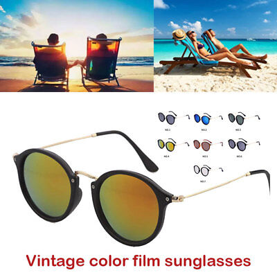 583607baff3 Sunglass Eyewear Fashion Mirrored UV400 Round Frame Accessories Women Sun