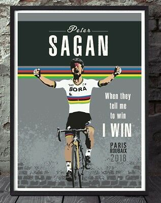 Peter Sagan paris roubaix cycling art print
