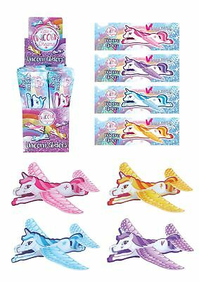 Unicorn Glider Flying Planes Girls Toy Birthday Party Bag Fillers