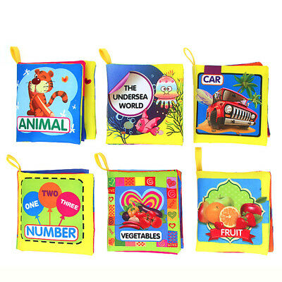 Baby Soft Intelligence Development Cloth Learn Picture Book Cognize Kid Toy Gift
