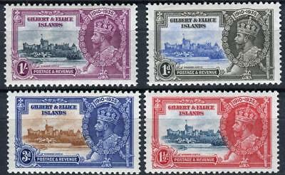 1935 Gilbert & Ellice Islands,Silver Jubilee Issue Sc # 33-36 MNH Complete Set