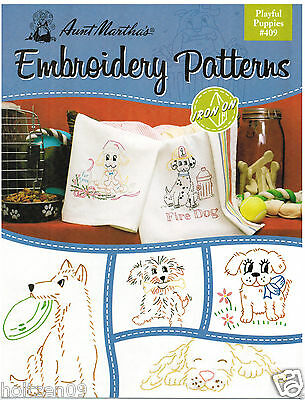 puppies under a tree Mare Vintage Embroidery Picture Pattern ~ Horse