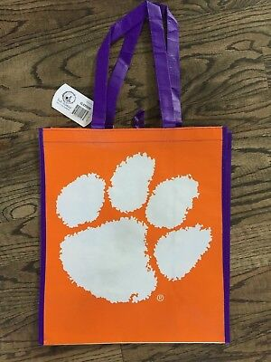 abceda57d9 CLEMSON® UNIVERSITY TIGERS TOTE BAG Heavy Shopping Gym Reusable LICENSED  NWT!
