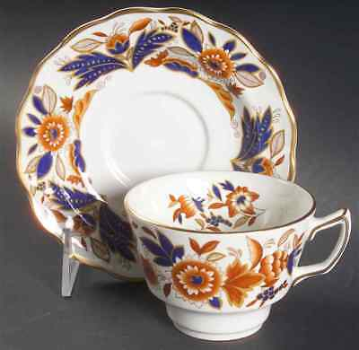 Booths DOVEDALE BROWN & COBALT Cup & Saucer 38041