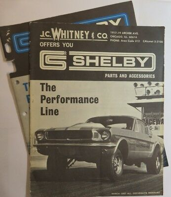 2 Vintage 1967 Shelby Parts And Accessories J.c. Whitney & Co. Catalog + Insert