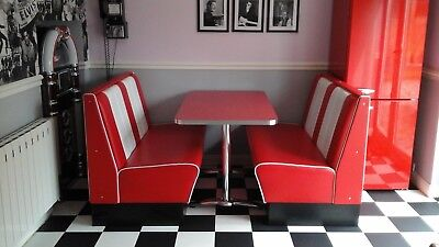 american diner booth table and seats retro rock n roll furniture