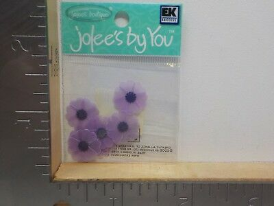 JOLEE/'S BY YOU WHITE PINK PASSION FLOWER EMBELLISHMENTS NEW NIP A8596