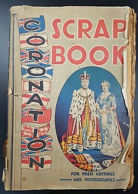 Vintage Scrap Album For Coronation of King George VI, Full of Press Cuttings