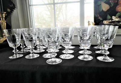 """VAL ST LAMBERT STATE PLAIN WATER GLASS GOBLETS 6 1/2"""" T   19 available"""
