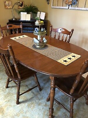 Tell City Furniture Company Dining Room Table 4 Chairs Rumford