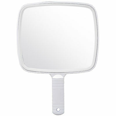 Large White Handheld Hairdresser Mirror Practical Salon Barber Accessory - By