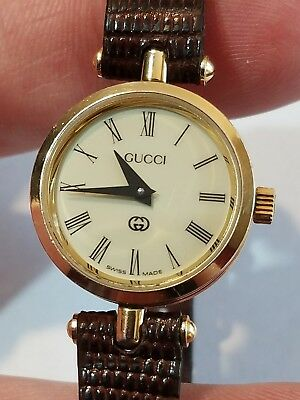 a7d6d43aaab GUCCI VINTAGE LADY S Green Red Gold Plated Stack Quartz Watch ...