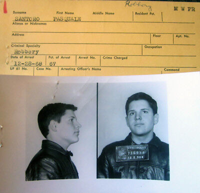 1968 New York City MUG Shot Robbery Photo