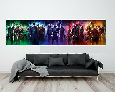 "Avengers Infinity War Movie Poster 16x40"" 24x60"" 32x80"" Marvel Art Banner Print"