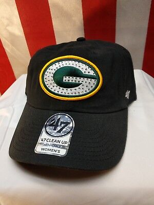 35bd56e9a2a ... discount code for nfl green bay packers womens 47 clean up gemstone hat  cap adjustable 99f79