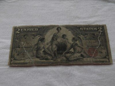 """1896 $2  Legal """"Education"""" Silver Certificate - Filler Note"""