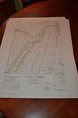 1940's Army (like USGS) topographic map Mount Morris New York -Sheet 5469 III NW