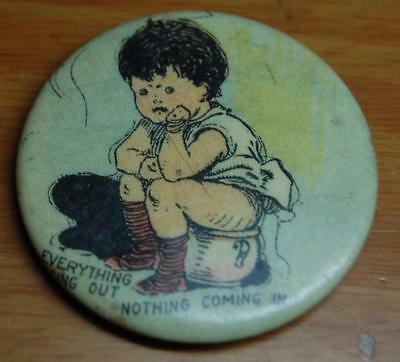 Antique Anti Hoover Fdr Campaign Political Advertising Celluloid Pocket Mirror