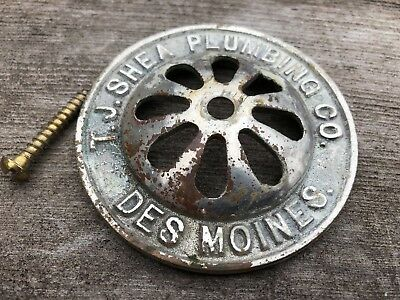Antique Sink Tub Drain Cover Hardware T.J. Shea Plumbing Des Moines Iowa