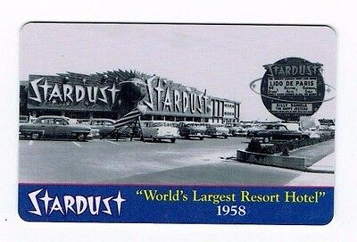 STARDUST Las Vegas Casino Room KEY - WORLD'S LARGEST RESORT HOTEL 1958 ~