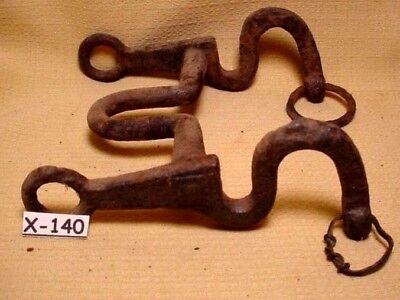 RARE & Heavy Antique Hand Forged Indian Wars Unusual Style Horse Bit