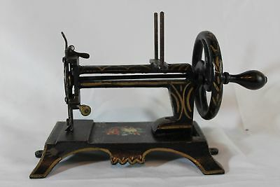 Antique Cast Iron SEWING MACHINE Toy German MULLER BREMER CASIGE Hand Cranked