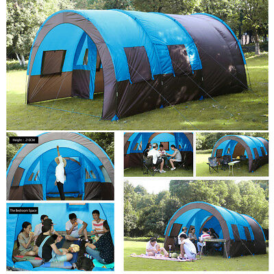 10 Person Big Camping Tent Outdoor Family Hiking Instant Cabin Shelter