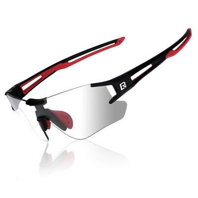 RockBros Cycling Photochromatic Rimless Sunglasses Glasses UV400 Goggles