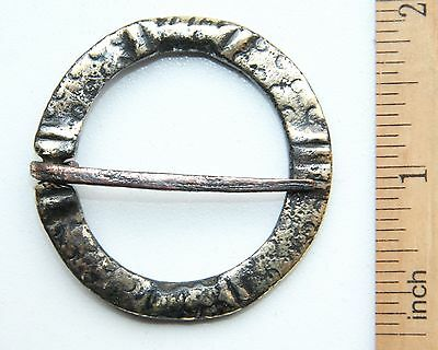 "Ancient Old Ornament Bronze Fibula Brooch ""Clasped Hands"" (NOW)"
