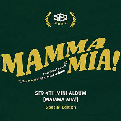 SF9 [MAMMA MIA!] 4th Mini Album Special Edition CD+POSTER+Photo Book+Card+B.Mark