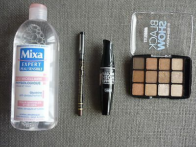 ☆ Make up / Maquillage ☆ Palette Nude + Mascara + Liner + Eau Micellaire +NEUF+
