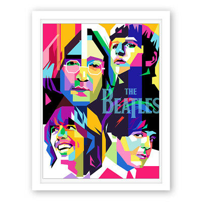 the Beatles Rock Band Paintings Print Home Decor Canvas Wall Art Picture Posters