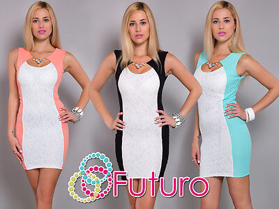 Ladies Cocktail Mini Dress With Necklace Sleeveless Bodycon Sizes 8-12 FC5631