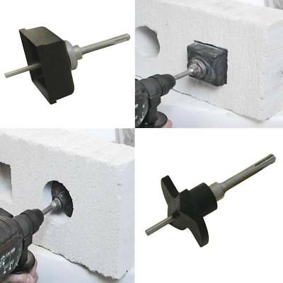 SDS Drill Fitting Electrical Wall / Telephone Socket Square Hole Box Cutter Set
