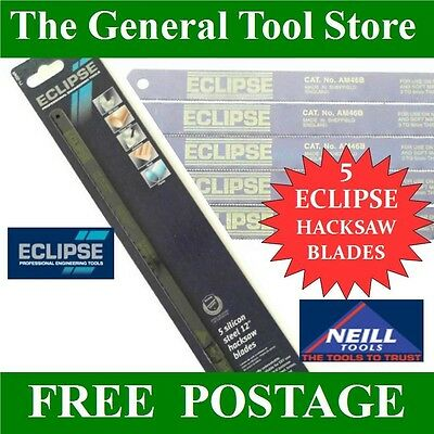 """Eclipse 12"""" Hacksaw Blades Pack Of 5 Spear And Jackson Neill Tools"""