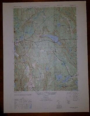 1940's Army (like USGS) topographic map Voluntown Connecticut, RI -6667 III SE
