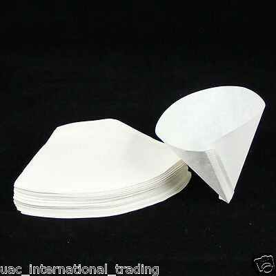 40 x Expresso cup Coffee Machine Maker Paper Filter Paper Fit 2 - 4 cups_White