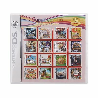 Super Nintendo NDS 208 in 1 Game Cartridge Console US English Version Language