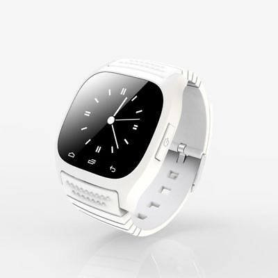 M26 Bluetooth White Smart Wrist Watch Phone Mate For IOS Android iPhone Samsung