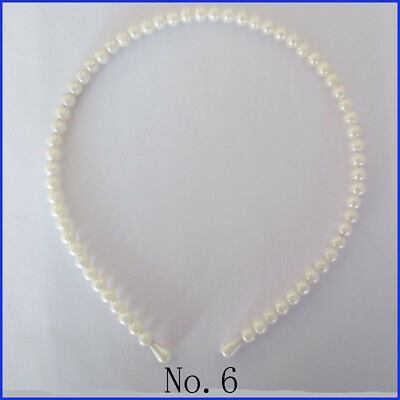 50 BLESSING Good Girl Boutique Modern Style Headband 6 MM Pearl