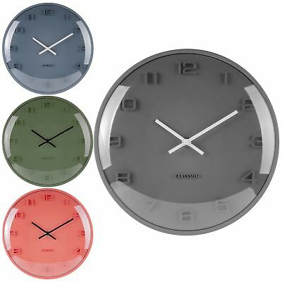 Karlsson Elevated Dome 25cm Wall Clock 5 Colours Choices Modern Home Office