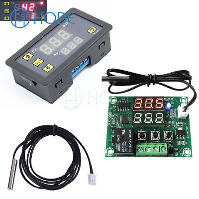 DC 12V Dual LED Multi-function Cycle Timer Relay Module Delay Switch UK