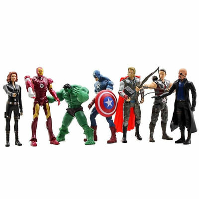 Us 7Pcs/lot Avengers-Hulk-Captain-America-Iron-Man-Thor Gifts Actions Figures