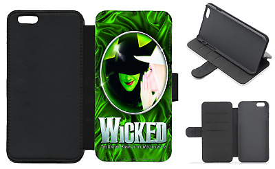 WICKED Musical Wallet Flip Phone Case iPhone Galaxy 4 5 6 7 8 Plus X comp (F)