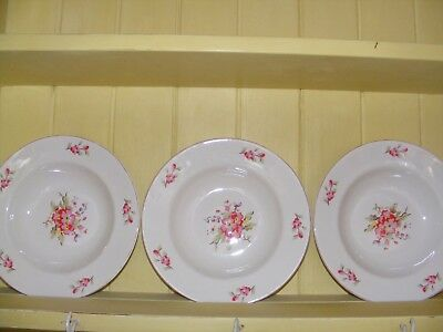 6 X Cath Kidston Spray Flowers Fine China Bowls / Dishes