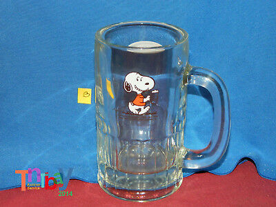 NOS A&W Root Beer Peanuts Snoopy Heavy Glass Mug New Old Stock LOT C