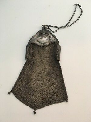 Wb Silver Mesh Cathedral Compact 1918 Purse